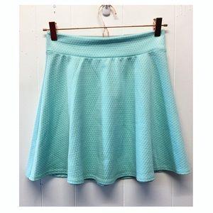 Charlotte Russe | Turquoise Textured Skater Skirt